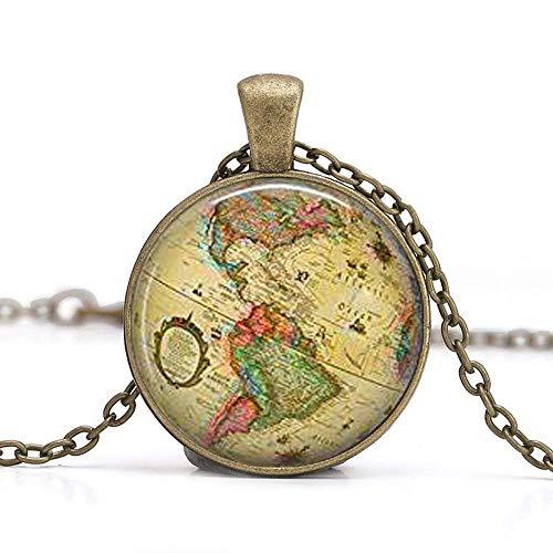 Halskette mit Weltkugel aus Nord- und Südamerika, Geschenk für Reisende, Weltkugel