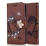 Huawei Enjoy 7S Case,Lspcase Huawei P Smart Leather Case