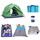 SHUMEISHOUT The New Tent Double Pop-up Camping Tent with A Bag Instant Pop-up Tents to Provide Much-Needed Protection for You and Your Family for Backpacking Fishing