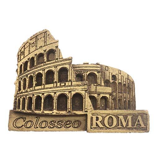 Weekinglo Souvenir Imán de Nevera Coliseo Roma Italia 3D Artesanía De Madera Hecho A Mano Turística Ciudad de Recuerdos de Recuerdos Carta de Refrigerador Etiqueta