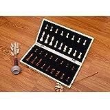 """YEYUTF Magnético ajedrez de Madera,Tablero de ajedrez magnético de 11""""x 11"""", Caja de Almacenamiento con Ranura Individual"""