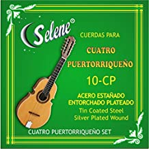 Cuatro Puertorriqueño Strings Selene Model 10-CP (Full Set) Cuerdas para Cuatro Puerto Rico
