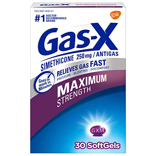 GasX Maximum Strength Softgels for Fast Relief from Gas Bloating and Discomfort Softgels no Flavor 30 Count