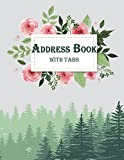 Address Book with Tabs: Email Address Book And Contact Book, with A-Z Tabs Address, Phone, Email, Emergency Contact, Birthday 120 Pages large print 8.5' x 11'