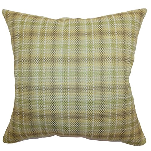 Best Price The Pillow Collection Adelasia Plaid Bedding Sham Leaf Standard/20 x 26