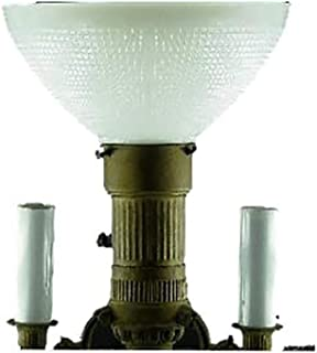 Upgradelights 10 Inch Floor Lamp Globe Glass Diffuser IES Replacement with 3 Edison Candle Covers