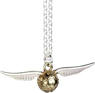 HARRY POTTER Official Sterling Silver Quiddich Golden Snitch Necklace Pendant - Boxed