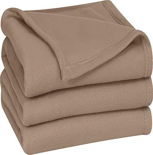 Utopia Bedding Fleece Blanket King Size Grey Soft Warm Bed Blanket Plush Blanket Microfiber
