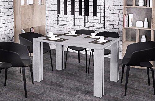 Endo Nisa 215 eettafel, uittrekbaar, uitbreidbaar, keukentafel, eetkamertafel, tafel Beton-look.