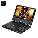 Lecteur DVD portable 9 pouces sur pivot 270 degrés Résolution 1280x800 / Sans région / Lentille Hitachi / 16:9 / Slot carte SD