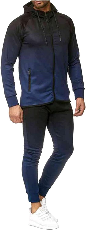 Litetao Men 2 Piece Patchwork Tracksuit Jogging Sets Full Zip Athletic Sweatsuit Outfit Sports Suit