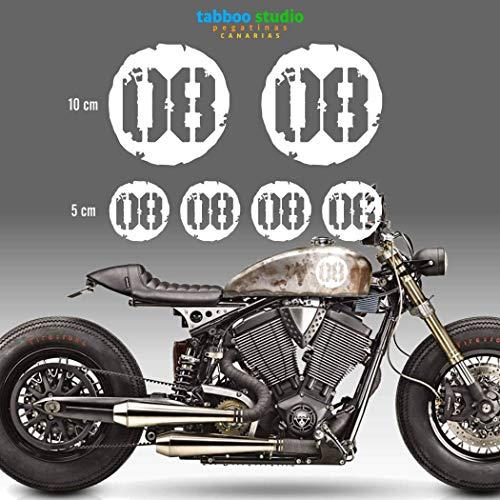 Numeri adesivi per moto cafe racer