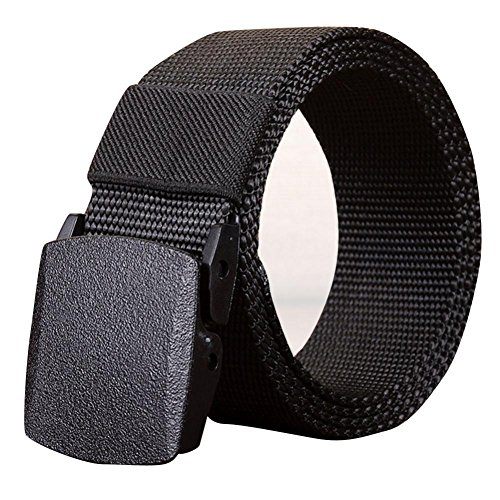 FNKDOR Herren Gürtel Stoffgürtel Leinwand Nylon Canvas Sport Belts (140 CM| Schwarz) | Accessoires > Gürtel | FNKDOR Herren Bekleidung