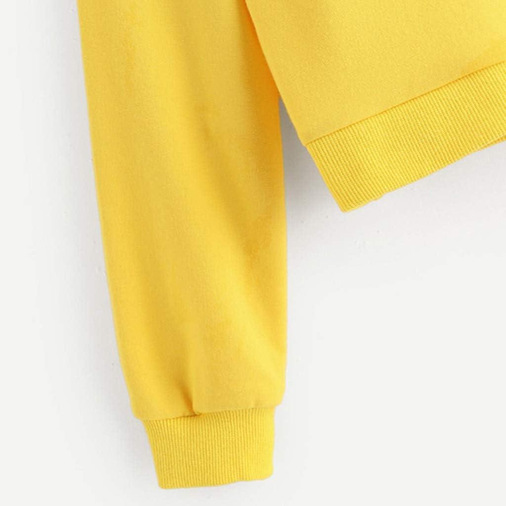 LUBITY B/éb/é Gar/çons Enfants Impression Manches Longues Tops Col Rond Cartoon Sweatershirt Chandail Chemise Pull Molletonn/é Mignon avec Pulls Molletonn/és Et V/êtements