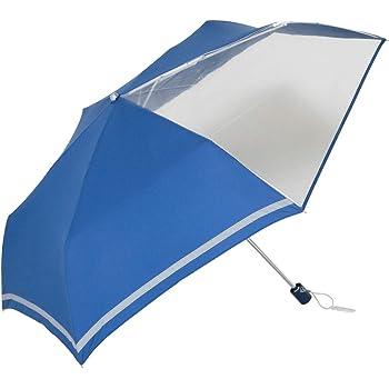 傘と日傘専門店リーベン(Lieben) 折りたたみ傘 ネイビー 55cm×6本骨 前が見えるミニ傘 子ども用 LIEBEN-1330