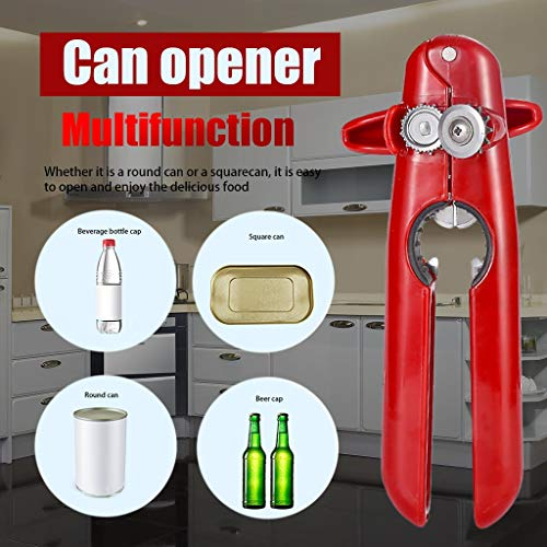 Ywoow Can Opener Stainless Steel Four-in-One Multifunctional Labor-Saving Can Opener