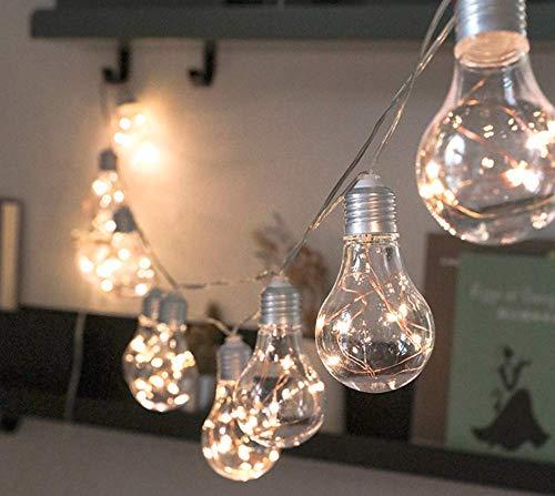 JIANMIN Decoraciones para el hogar Luces de cadena de hadas, 3M 30LED Pascua Decoración Cadena de luces de alambre de cobre Cadena de luces de arco iris con pilas