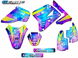 Senge Graphics kit compatible with Suzuki 2001-2004 RM 85, Space Kadet Base graphics kit.