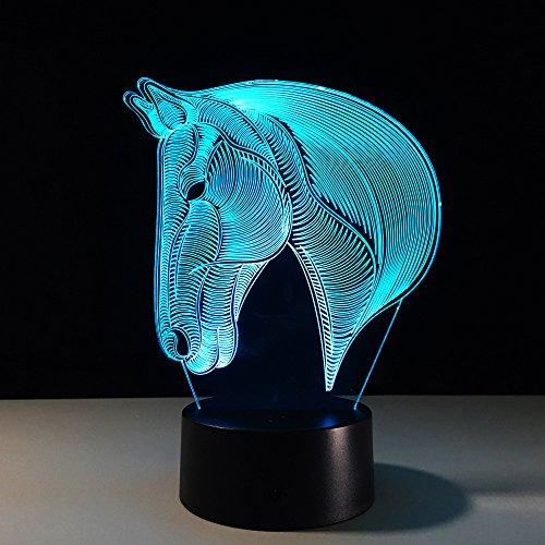 3D-nachtlampje voor kinderen, optische illusielamp, LED-jongen, baby-nachtkleding, 16 kleuren, aanraaklamp, slaapkamer, tafel, art-deco, kind, USB, licht met afstandsbediening