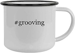 #grooving - 12oz Hashtag Camping Mug Stainless Steel, Black