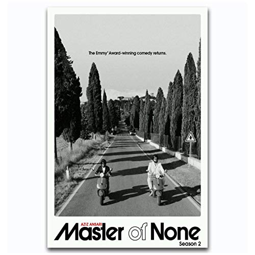 ZQXXX Master of None Seson 2 Serie de TV Imágenes clásicas Póster de arte Sala de estar Decoración del hogar Impresión en lienzo -50x75cm Sin marco