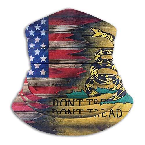 Nosotros bandera no pisar en mí headwear bandana a prueba de viento abrigo unisex pasamontañas sol UV cara bufanda para polvo - negro - talla única