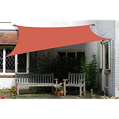 Artouch Terra 10' x 13' Sun Shade Sails Canopy Rectangle, 185GSM Shade Sail UV Block for Patio Garden Outdoor Facility and Activities