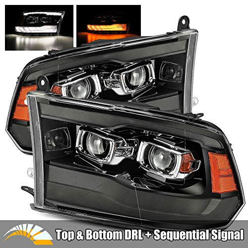 AlphaRex PRO-Series Smoke Black For 09-18 Ram 1500/10-18 Ram 2500/3500 Top and Bottom DRL/Switchback Sequential Signal Dual Projector Headlights Review