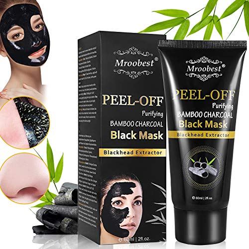 Black Mask, Peel off Maske, Mitesser Maske, Bambus Holzkohle Peel Off Maske, Poren reinigen Anti Öl Kontrolle Reinigung Blackhead Maske, Tiefenreinigung-60ML