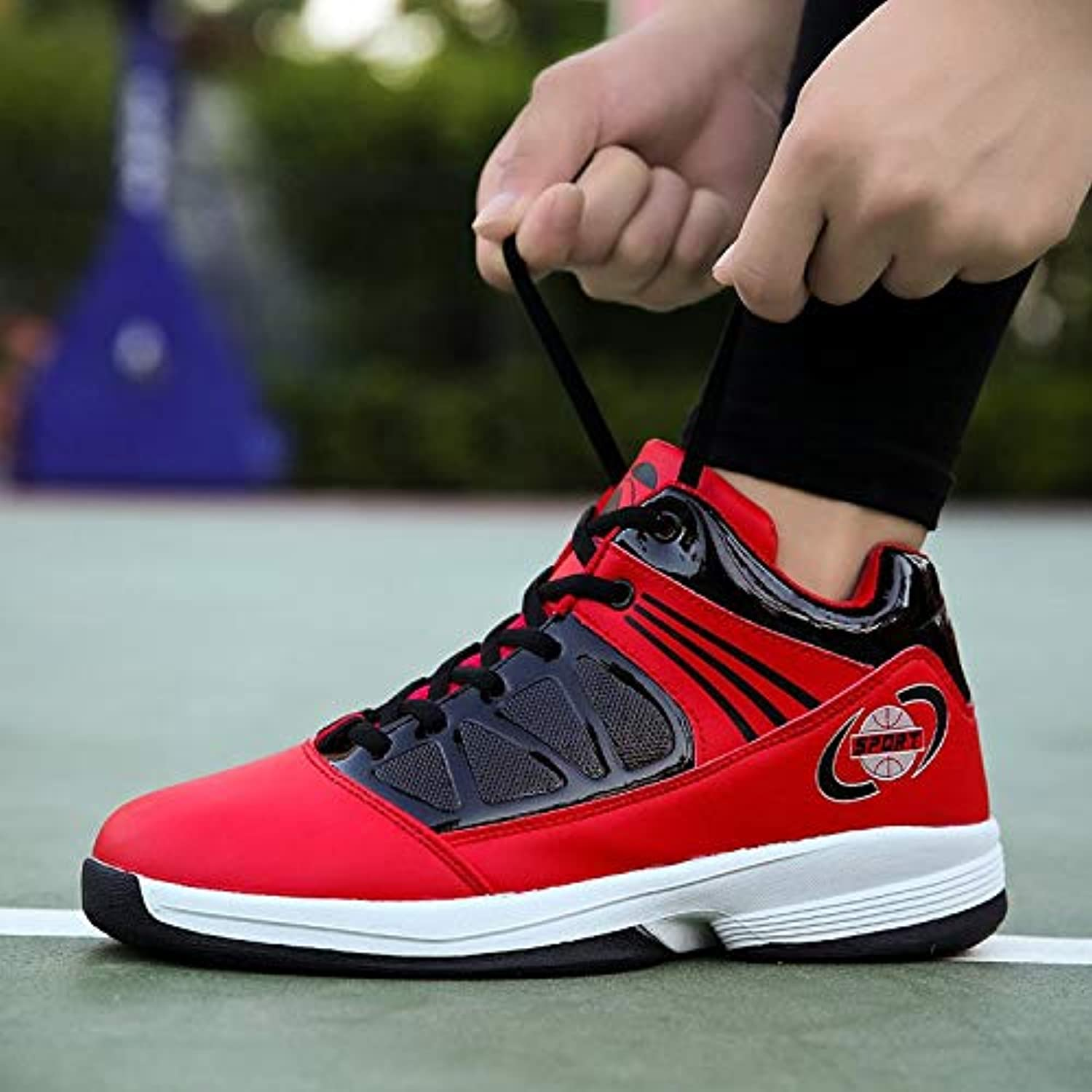Liuxc sports shoes Sports basketball shoes wear-resistant shock-absorbing basketball shoes wild men's shoes