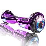 XPRIT Hoverboard w/Bluetooth Speaker, UL2272 Certified (Chrome Purple)