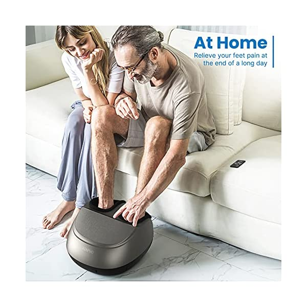 RENPHO Foot Massager Machine with Heat and Remote, Shiatsu Deep Kneading, Delivers Relief for Tired Muscles and Plantar…