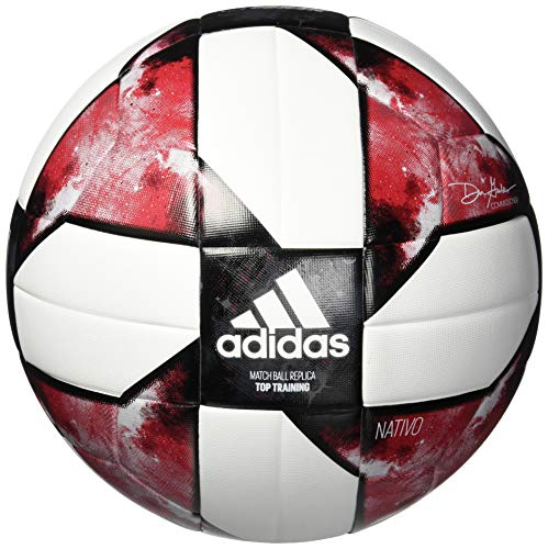 adidas MLS Top Training Soccer Ball White/Black/Active Red, 4
