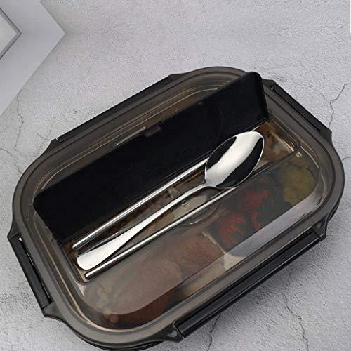 JJZXT Lonchera de Acero Inoxidable, Caja de Bento/envase de alimento con la Bolsa de Almuerzo aislada  Los Mangos duraderos y la Tapa