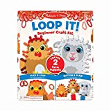 Melissa & Doug Loop It! Farm Puppets Beginner Craft Kit – Chicken and Sheep Felt Hand Puppets, 40 Loops, Great Gift for Girls and Boys - Best for 3, 4, and 5 Year Olds