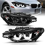 AmeriLite for 2012-2015 BMW F30 3-Series Sedan Crystal LED Tube Dual Projector...