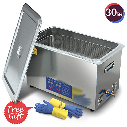2020 Upgrade Ultrasonic Cleaner 30L 800W Heated Parts Cleaner for Guns Carburetors Injectors Jewelry Dentures Large Capacity Use in Automotive Medical and Firearm Industry DAREFLOW