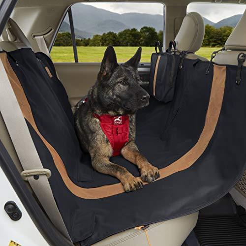 Kurgo wasserdichte Hunde Hängematte Auto-Sitzbezüge für Rückbank von Autos für Hunde und Haustiere - Wandern Stil - Autoschondecke für Hunde – Schwarz