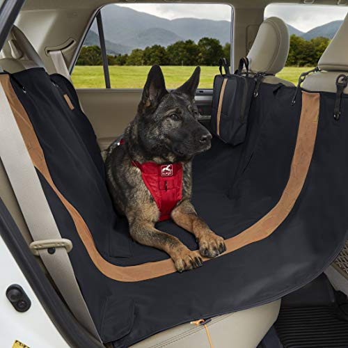 Kurgo Dog Hammock Style Seat Cover for Pets, Pet Seat Cover, Dog Car Hammock, Water-Resistant, Wander Style, Black