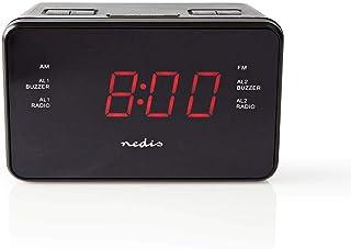 Nedis Digital Alarm Clock Radio Pa Ntalla LED 0.9 Inch FM