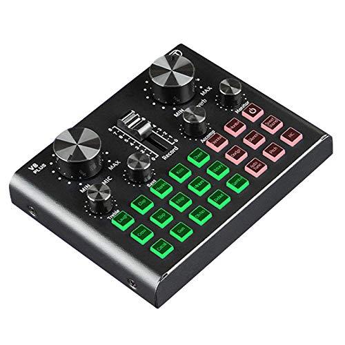 Cobeky Tarjeta de sonido V8 Plug para transmisión en vivo...