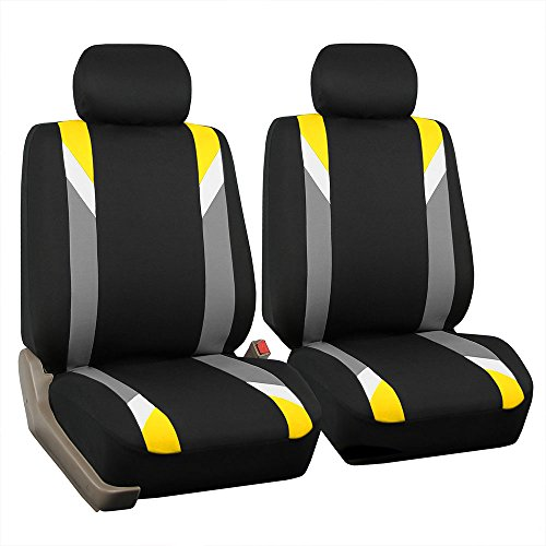 FH Group FB033YELLOW102 Bucket Seat Cover (Modernistic Airbag Compatible (Set of...