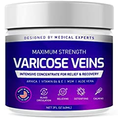 SOOTHING AND PAIN RELIEVING: GENIUS Varicose Veins Cooling Cream can help overcome the discomfort, health risks and engorged appearance of varicose veins. Our formula helps diminish the appearance of varicose and spider veins, improves blood circulat...