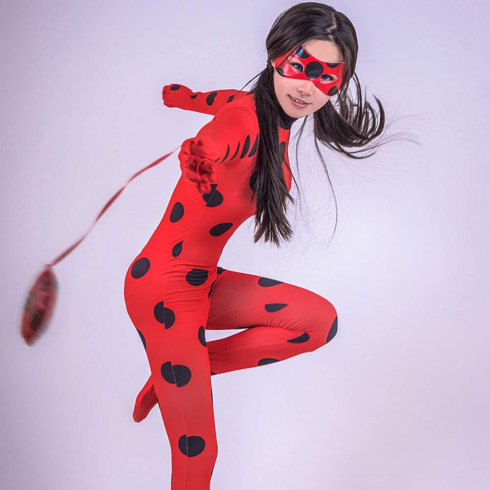 Xinhua488 Disfraz de Mariquita milagrosa para niñas + máscara + ...
