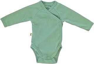Grünspecht Grünspecht 629-V1 Bio-Wickelbody langarm, kbA GOTS, Babybody, Bio-Baumwolle, Größe: 50/56, grün