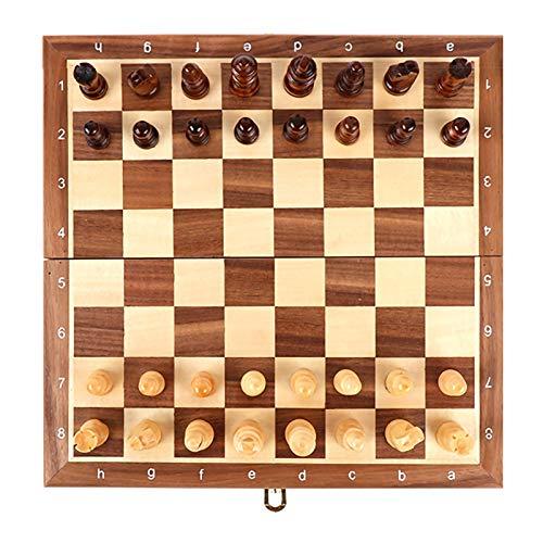 WWJ Juegos de Mesa de Madera Juego de ajedrez para Adultos, Juegos de Mesa y Juegos Tradicionales para Principiantes Familiares Adecuado para Regalos