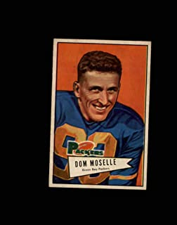 1952 Bowman Small Football #130 Dom Moselle STARX 7 NM CS52990