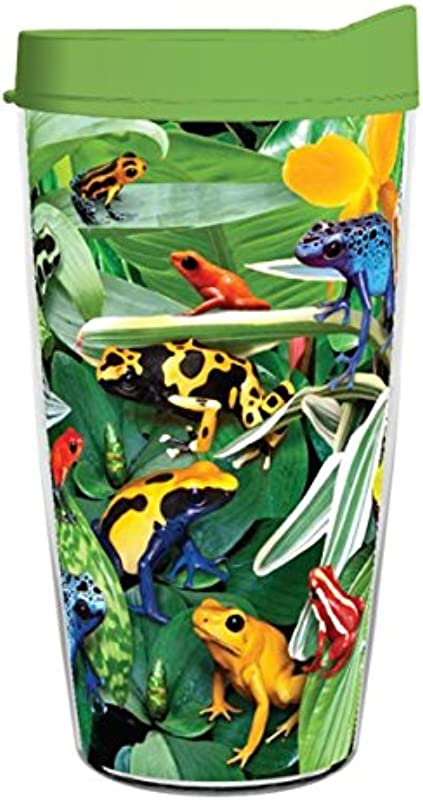 DART FROGS 16oz Tritan Insulated Tumbler With Lid And Straw