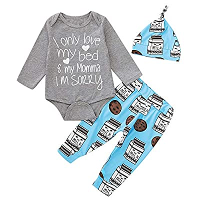 Dramiposs Baby Boy Funny Monster Outfits Newborn Coming Home Bodysuit with Hat