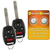 For 08-12 Honda Accord Sedan Only, 09-15 Honda Pilot Keyless Entry Remote Key Fob Alarm KR55WK49308, 267T-5WK49308-2 PACK